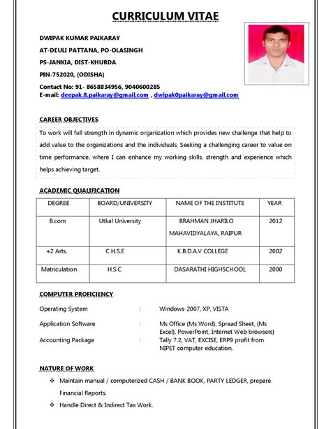 example of resume profile examples of resumes