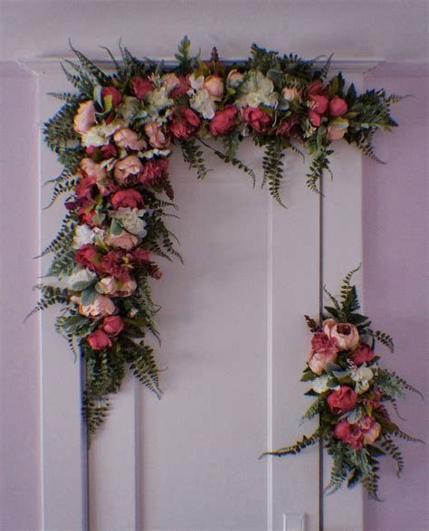 wedding arch flower swag wedding arch swag large wedding swag archway flowers