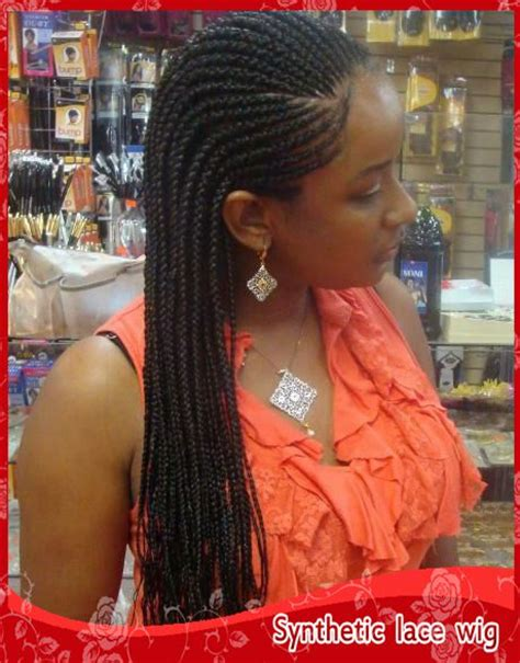 thick braided african wigs braided lace front wigs black long synthetic wigs for