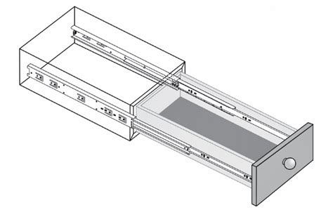 schubkasten laufschienen push to open touch release bearing drawer runners