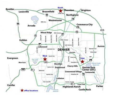 Denver Map   View 25 Of Our Best Maps Of Denver & Colorado