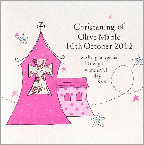 Handmade Personalised Christening Cards - personalised handmade christening card by eggbert