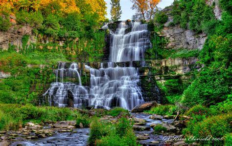 chittenango falls hdr by voyager01 on deviantart