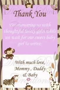 cocalo jacana baby shower thank you card