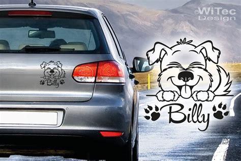 Aufkleber Auto Mit Namen by Hundeaufkleber Hund Name Pfoten Aufkleber