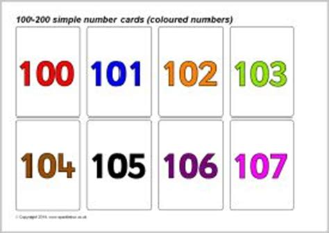 sparklebox printable number cards simple 100 200 number cards coloured numbers sb10395