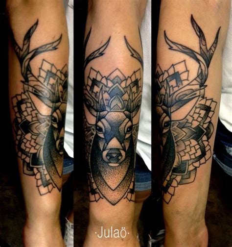 tattoo mandala deer julao tattoo deer mandala blackwork dotwork tats