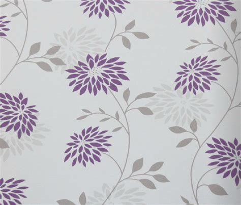 modern floral wallpaper modern floral wallpaper purple and gray contemporary