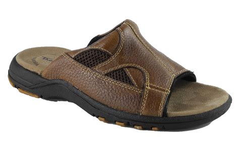 mules sandals mens leather poron cushioned mule sandals mules brown size