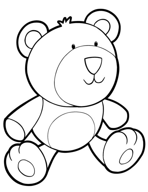 coloring page of teddy bear teddy bear coloring pages for kids