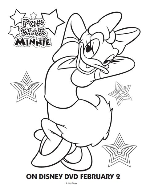 pop star minnie mouse printable coloring pages friends