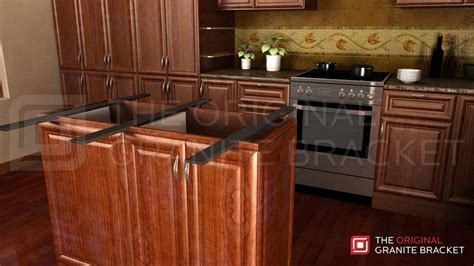 Corbels For Granite Countertops by Sided Island Support Brace The Original Granite