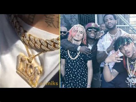 lil pump necklace lil pump rocks a 1017 chain after meeting with gucci
