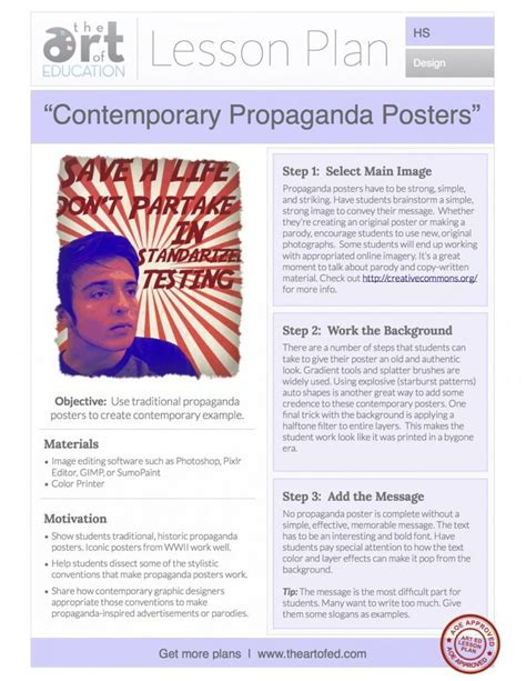 poster layout lesson plan 17 best images about art projects for high school students