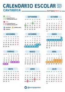 Calendario Laboral Cantabria 2018 Calendario Escolar 2016 2017 En Cantabria