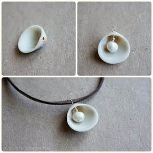 diy pearl in shell necklace diary of a mad crafter