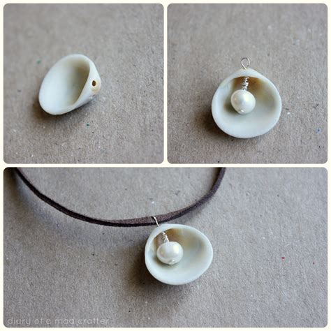 pearl diy diy pearl in shell necklace diary of a mad crafter