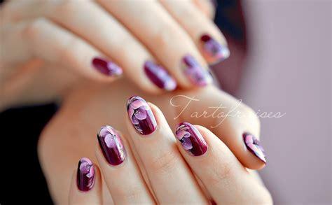 nail art tutorial zhostovo nail art fleur rose de pavot en zhostovo tartofraises