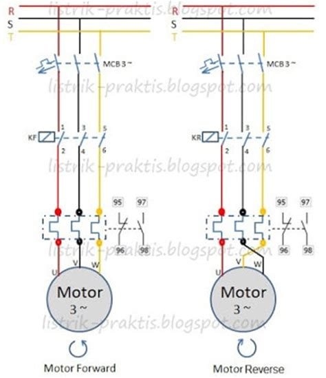 motor listrik 3 fasa forward listrik praktis blogs