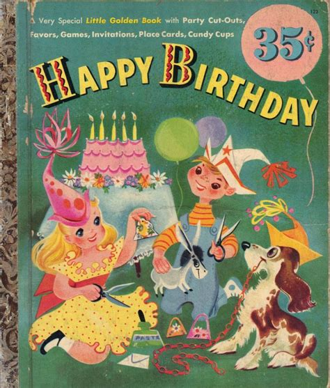 the birthday books a golden book happy birthday 1952 happy