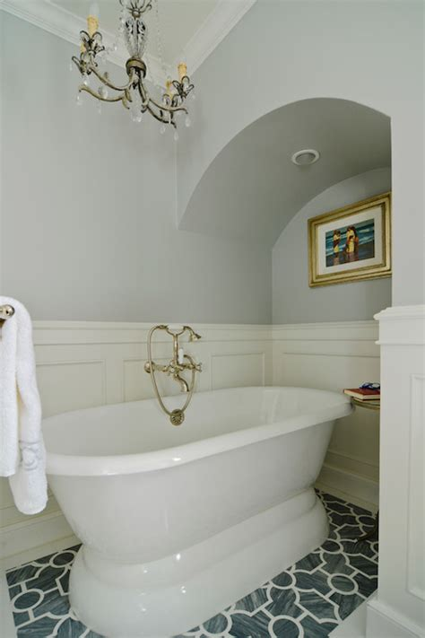 Bathtub With A Door Bathroom Wainscoting Eclectic Bathroom Fgy Architects