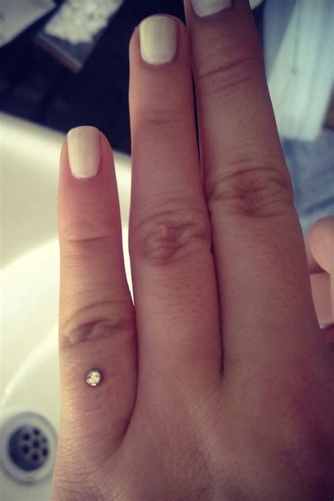 finger tattoo not taking pinky finger dermal piercing this is actually really cute