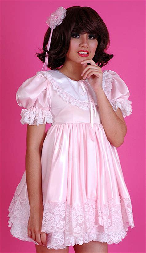 sissy baby in satin dress pretty sissy baby dress