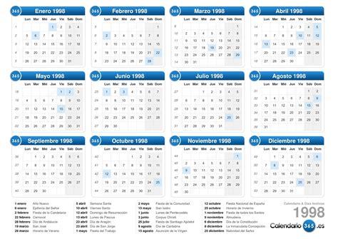 Calendario Diciembre 1998 Calendario 1998