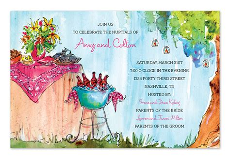 backyard party invitations available in