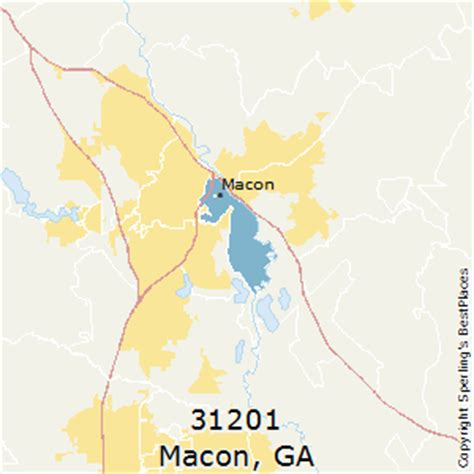 macon zip code map best places to live in macon zip 31201