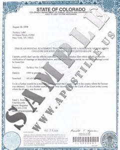 Certification Of Marriage Letter Authentications Of Documents State Colorado