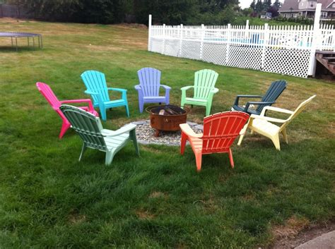 gas pit with adirondack chairs adirondack chairs eight different colors all around the