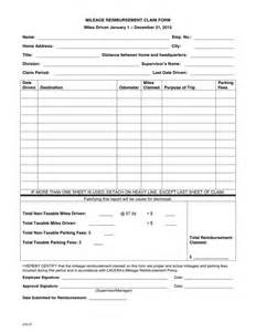 mileage claim template mileage reimbursement claim form in word and pdf formats