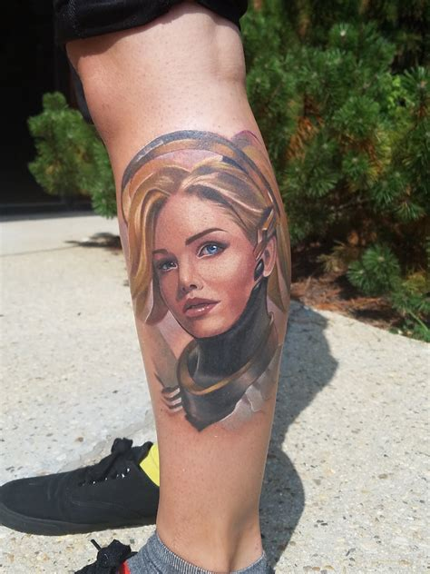 widowmaker tattoo 11 fans who overwatch so much they got tattoos