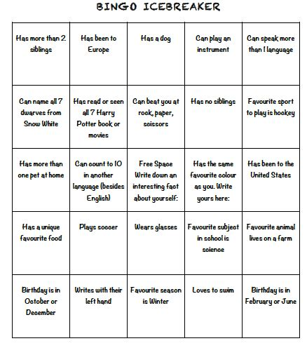 Breaker Bingo Template by Hello Bingo Icebreaker Template Pictures To Pin On