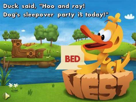 sleepover duck books wordworld ebook duck s sleepover review an app for
