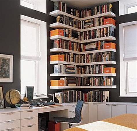 10 best ideas about corner bookshelves on