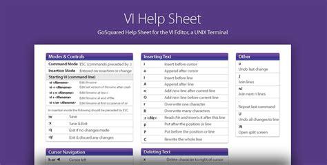 tutorial vi linux pdf vi linux terminal help sheet gosquared blog