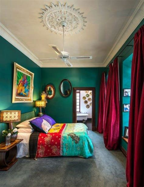 Green Wall Color Can Be Reached By A Trendy Decor Colorful Bedroom Wall Designs