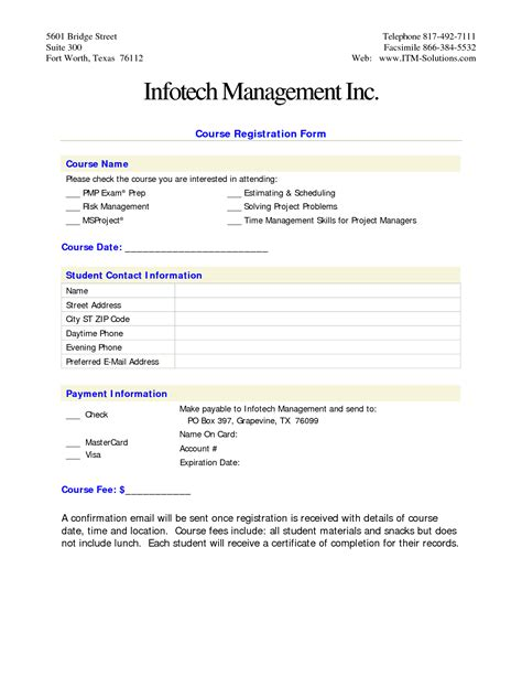 free template for registration form doc 10201320 workshop registration form bizdoska