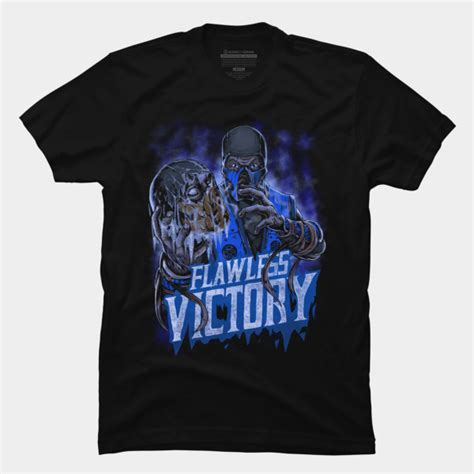 T Shirt Band Zero X Store sub zero flawless victory t shirt by thrashparty design by humans