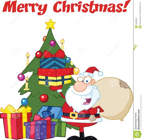 img of santa claus and x mas tree tree with santa clipart clipartxtras