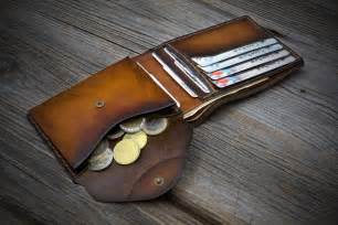 Handmade Leather Mens Wallets - mens wallet with coin pocket handmade italian leather wallet
