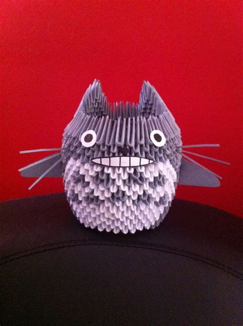 Origami Totoro - 3d origami totoro by kanna chan0 on deviantart