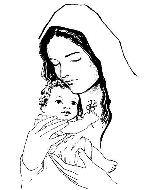 imagenes de la virgen faciles para dibujar dibujos de la virgen mar 237 a para colorear