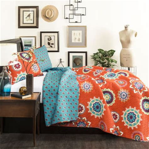 Orange And Blue Quilt Bedding Plum Bow Sofia Block Duvet Cover From Outfitters