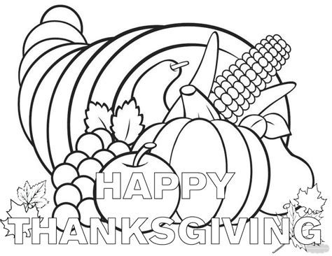 coloring pages thanksgiving thanksgiving coloring pages