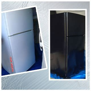 spray painting kitchen appliances spray paint fridge from white to black w appliance spray