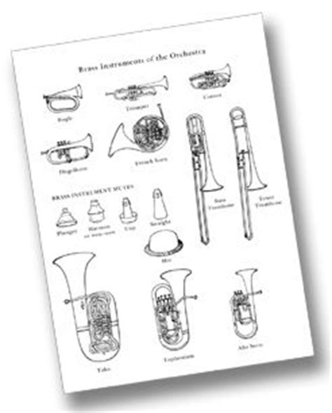 instrument family coloring page pin by weteachmusic on instruments brass pinterest