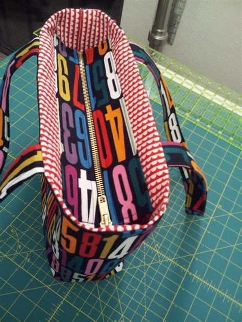tote bag pattern with recessed zipper how to add a recessed zipper to a tote free sewing tutorial